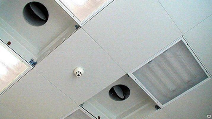 кассетный промышленный потолок